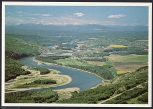 British Columbia ~ Aerial View of The Mighty Peace River - Cont'l 1980s-1990s