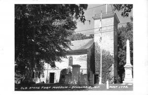 Schonarie New York Old Stone Fort Museum Real Photo Antique Postcard K22519
