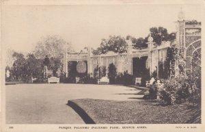 Parque Palermo Buenos Aires Argentina Old Postcard