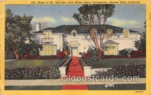 Beverly Hills, CA, USA Home of Mr & Mrs Jack Benny, Mary Livingstone