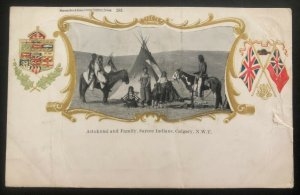 1904 Canada Picture Postcard Cover Native American Calgary Astokumi And Family