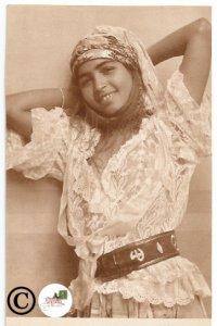 Old Postcard Alger Casbah Mauresque Ethnic Pretty Girl Mediterranean
