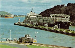 7798   The Panama Canal    Miraflores Locks,  Container Ship