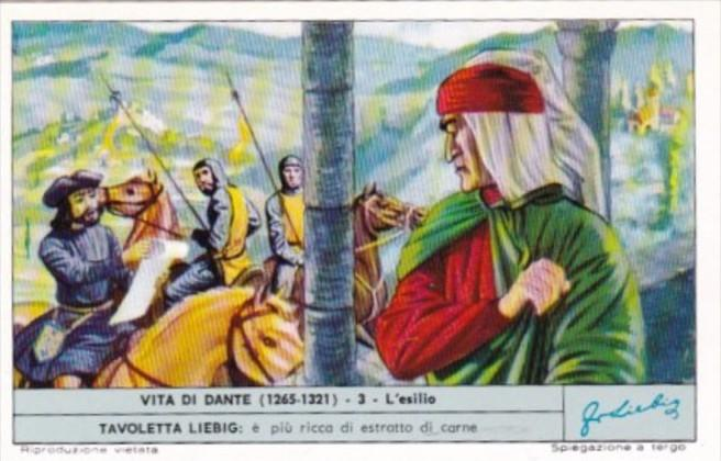 Liebig Trade Card S1810 Life Of Dante No 3 L'esilio