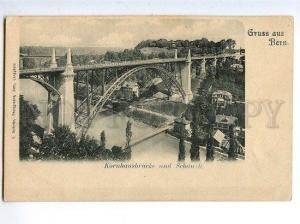 129766 SWITZERLAND Gruss aus Bern Bridge Kornhausbrucke OLD PC