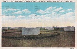 CUSHING, Oklahoma, PU-1947; View Of Cushing Tank Farm, Largest In The World