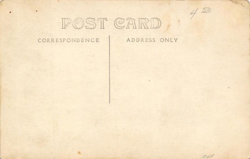 Real Photo Postcard~White Horse Team Pulls Farmer in Wagon~c1912 RPPC