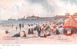 Old Iron Pier, Coney Island Charles E Flower, Amusement Park Unused