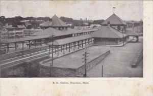 Massachusetts Brockton R R Station