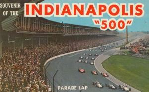 Indianapolis Indy 500 Parade Lap Memorial Day Race Postcard