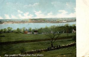 CT - New London - City and Thames river from Groton