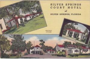 Florida Silver Springs The Silver Springs Court Hotel 1946 Curteich