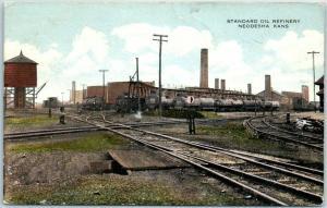 Neodesha, Kansas Postcard STANDARD OIL REFINERY Railroad Tank Cars 1923 RPO