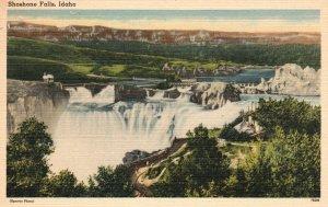 Vintage Postcard 1930's Shoshone Water Falls Idaho ID Nature