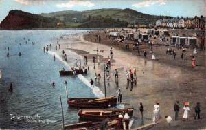 TEIGNMOUTH DEVON UK-VIEWED FROM THE PIER ~FRITH'S SERIES POSTCARD 1909 PSMK