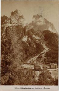 CPA Hotel Croci col monte Cristallo e Popena . ITALY (544484)