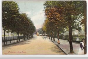 Worcester; New Road PPC, Unposted, By Frith, c 1920's, Note Tram