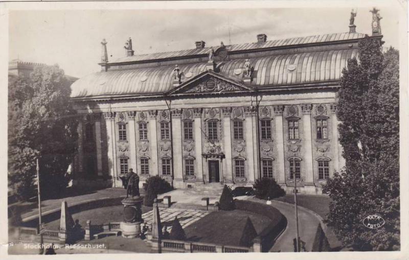RP; Riddarhuset, Stockholm, Sweden, PU-1938