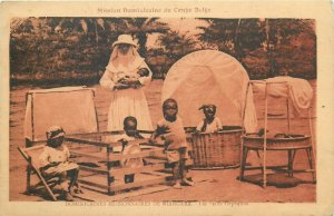 Belgian Congo Belge Niangara missions petit orphelins african natives orphans