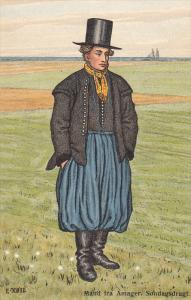 AS: E. Koie, Mand Fra Amager, Sondagsdragt, Denmark, 1900-1910s