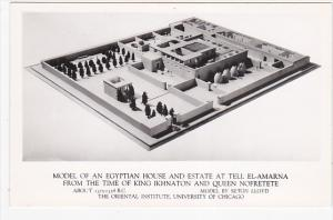 RP; Model of an Egyptian House and Estate at tell El-Amarna,Time of KIng Ikhn...