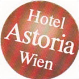 AUSTRIA WIEN HOTEL ASTORIA VINTAGE LUGGAGE LABEL