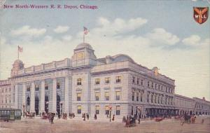 New North Western Rail Road Depot Chicago Illinois 1911
