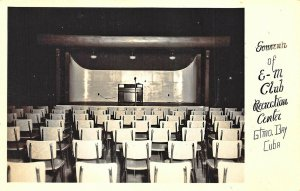 Guantanamo Bay *E*M* Club Recreation Center Stage Real Photo Postcard