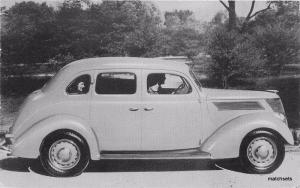 1937 Ford Four Door Sedan automobile postcard 190