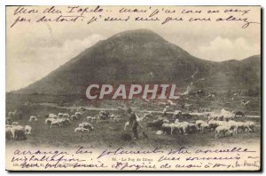 Old Postcard Puy de Dome Shepherd and sheep
