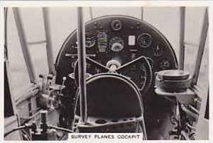 Pattreiouex Vintage Cigarette Card Flying 1938 No 3 Survey Planes Cockpit
