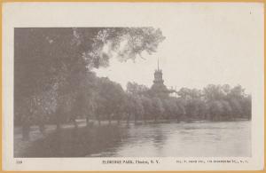 Elmira, N.Y., Eldridge Park Pavilion and the lake