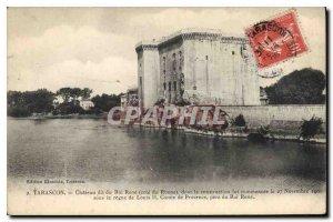 Old Postcard Tarascon Chateau du Roi Rene says