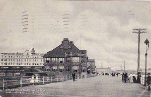 New Jersey Atlantic City Boardwalk Showing Casing 1909