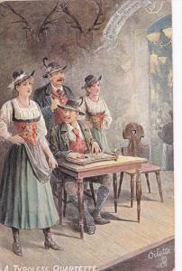 A Tyrolese Quartette , Tirol , Austria , 00-10s ; TUCK