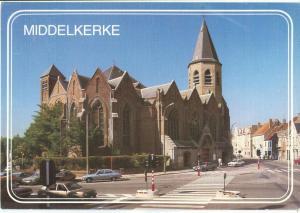 Belgium, Middelkerke, Kerk St. Willebrordus, 1991 used Postcard