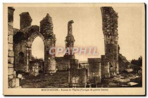 Old Postcard Montfaucon Ruins From I & # 39Eglise