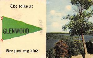 The Folks at Glenwood Iowa~Are Just My Kind~1913 Pennant Postcard