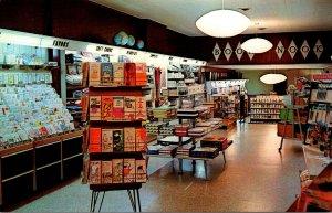 Ohio Delaware Wood's Campus Book Store Night View Of Interior