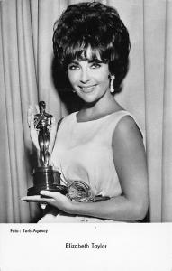 Actress Elizabeth Taylor With Her Emmy RPPC