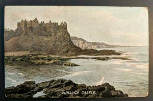Mint Vintage Dunluce Castle Ireland Real Picture Postcard