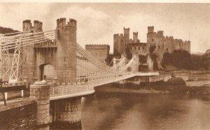 Conway Castle and Suspension Bridge  A Tuck `Postcard # CNY 3