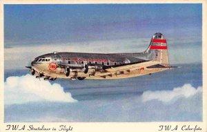 TWA Stratoliner Plane Aircraft Airline postcard