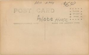 Sod House~Windows w/Shutters~Barrels~Barn~Real Photo Postcard c1913