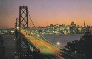 California San Francisco San Francisco Oakland Bay Bridge At Sunset