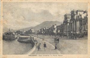 Palermo 1920s Foro Umberto I e Porta Felice Italia