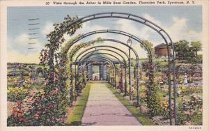 Vista Through The Arbor In Mills Rose Garden Thornden Park Syracuse New York ...
