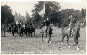 Hippique sport horses horse parade 1951 RPPC 03.95