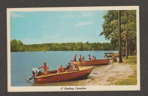 Boating Paradise Vtg Postcard Greetings From El Dorado, Arkansas