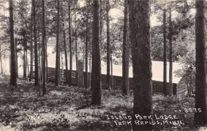Park Rapids Minnesota Island Park Lodge Real Photo Antique Postcard K65858